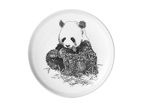 Maxwell & Williams DX0377 Marini Ferlazzo Teller Giant Panda, aus Bone China Porzellan, Schwarz, Weiß, in Geschenkbox