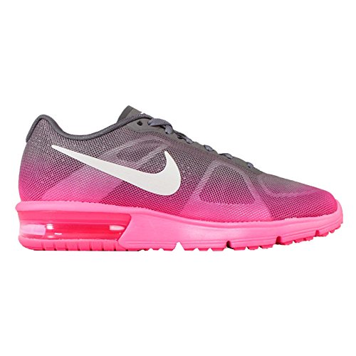 Nike Wmns Air Max Sequent, Scarpe sportive, Donna Hyper Pink/Dark Grey/White