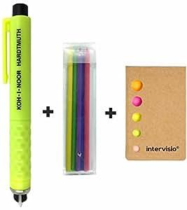 Koh-I-Noor Matita Gesso per Sartoria S128PN8004BL, in Plastica, Colori Assortiti, Sarto + intervisio Adesivi per Appunti Sticky Notes - Bundle