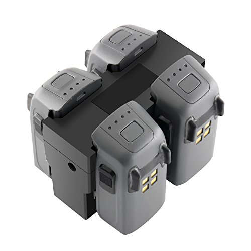 Tineer Rapid Parallel Charging Hub, Quad Multi Battery Charging Station per DJI Spark Dro