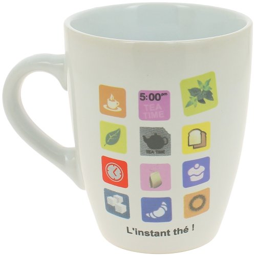 -Mug Kaffeetasse, Apple Smartphones Zeitpunkt Tee, Weiß