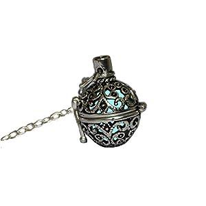 Glowing Vintage collana in lega placcato Ciondolo Gioielli Acquamarina/Blu Turchese 18cm, Turchese, 30x15x10 mm