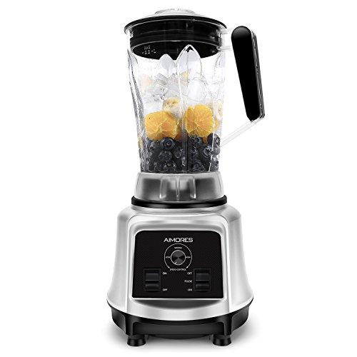 AIMORES Smoothie Maker, Mixer, Hochleistungsmixer, 28.000 U/min, Standmixer mit Drehzahlregelungen, Optimierte 6 Edelstahlklingen 2.2L Tritan-Krug | BPA-Frei, mit Rezept | CE/LFGB/RoHS