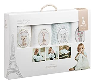 Vulli - Il était une fois - Sophie la Girafe - Set de 4 langes (B00GBVO2UQ) | Amazon price tracker / tracking, Amazon price history charts, Amazon price watches, Amazon price drop alerts