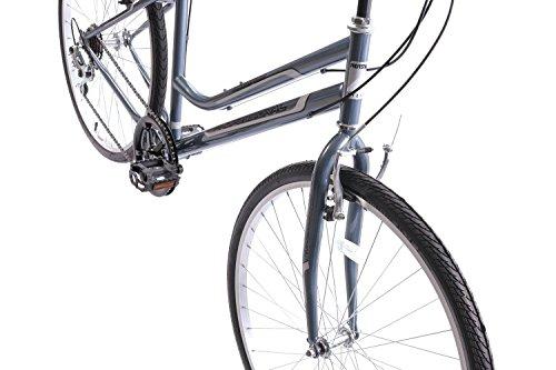 "41CtrxwYhiL - Professional Premium Womens 700c Hybrid Commuter Bike 18"" Frame 6 Speed Grey"