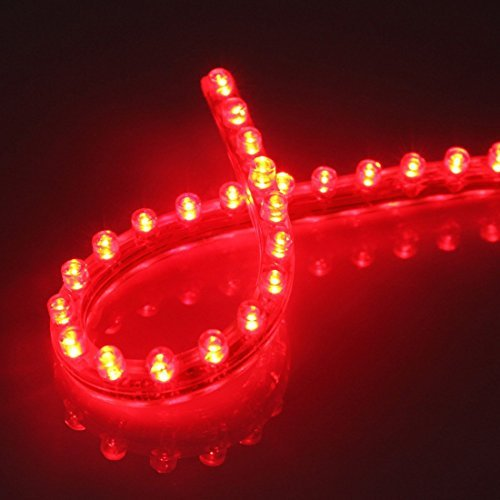 Preisvergleich Produktbild Well-Goal Flexibler Leuchtschlauch mit 24 LEDs,  wasserdicht,  für Aquarium,  24 cm,  Rot