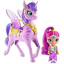 Shimmer And Shine Zahracornio mágico Volador, muñeca con Unicornio de Juguete, (Mattel GCM01