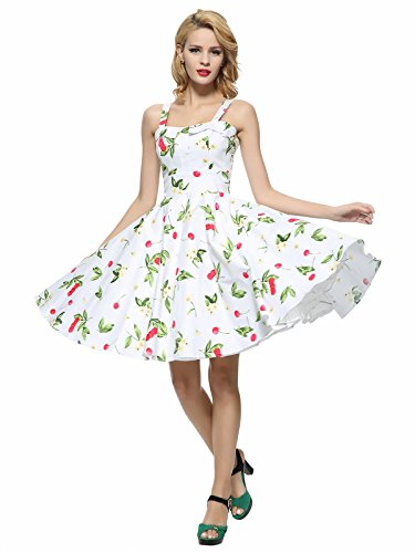 Maggie Tang Femmes Robe tulle 1950s Vintage - White cherry