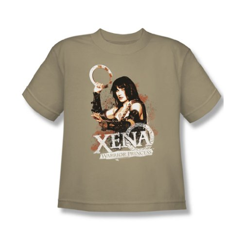 Xena Sand (Xena - Jugend-Prinzessin T-Shirt, X-Large, Sand)