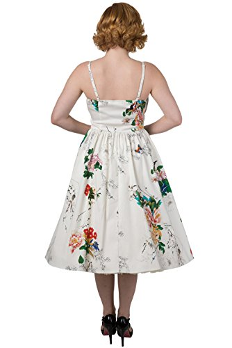 Dancing Days - Robe - À Fleurs - Sans Manche - Femme Blanc