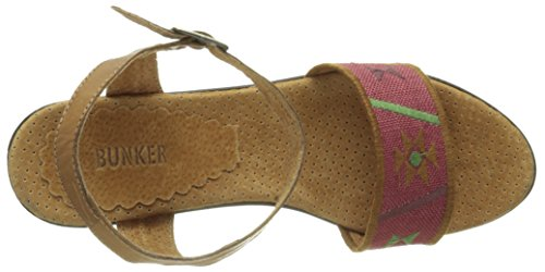 Bunker - Luz 3 11, Sandali Donna Rosso (Rouge (Tan Red))