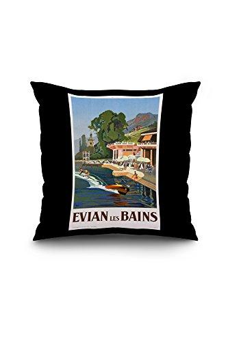 evian-les-bains-vintage-poster-artist-peri-france-18x18-spun-polyester-pillow-case-black-border
