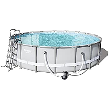 Bestway power steel swimming pool 26000 liters grey 18 - How many litres in a swimming pool ...