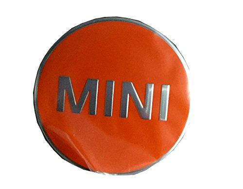 Mini véritable Centre de roue hub Cap couvertures Lot de 4 Orange vif F55 F65 36132354149