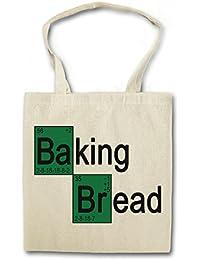 BAKING BREAD I Hipster Shopping Cotton Bag Cestas Bolsos Bolsas de la compra reutilizables - Breaking Confectioner pan panadero panadería Brot Cook Chef Fun Baker Bad
