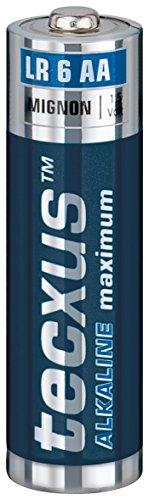 Tecxus Pile AA alcalines maximum 2700 mAh 7 ans