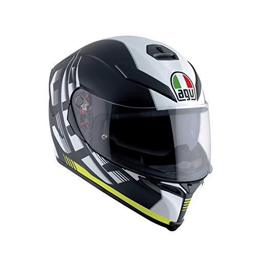 AGV Casco Moto Integrale K-5 S E2205 Multi Plk, Darkstorm Nero Matt/Giallo, Taglia L