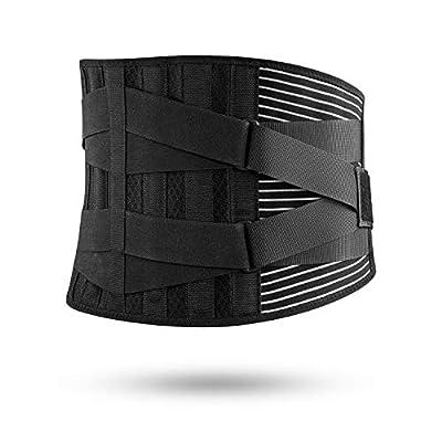 FREETOO Rückenbandage Sport Rückenstützgürtel Fitness Rückengurt mit Stabilisierungsstäben und Zuggurt zur effektvoller Schmerzreduktion und Haltungskorrektur für Damen und Herren von FREETOO
