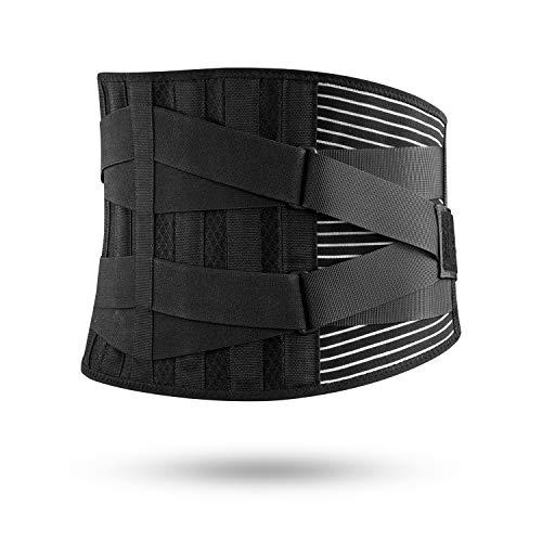 FREETOO Rückenbandage mit Stützstreben und Verstellbare Zuggurte und Atmungsaktiver Nylonstoff ideal für Arbeitsschutz entlastet die Rückenmuskulatur und zur Haltungskorrektur