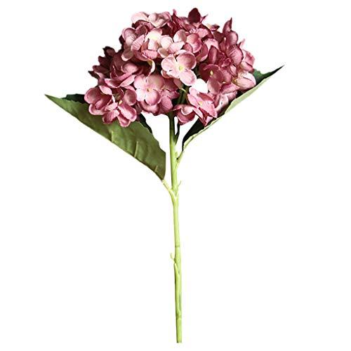 Kopf Kostüm Topf - Lazzboy Künstliche Blume Hortensie Gefälschte Seidenblume Home Hochzeitsfeier Blumendekor Wohnaccessoires Kunstblumen Seide Pfingstrose Blumen Hochzeit Bouquet Braut Dekor(K)
