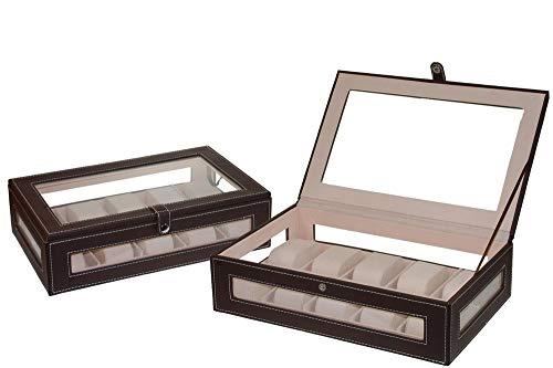 WHYNOTHOME Conjunto de Consola-Recibidor colgada con 1 caj/ón con gu/ías correderas y 2 Espejos sobre Base de 45 x 45 cm Acabado Roble Cambrian.