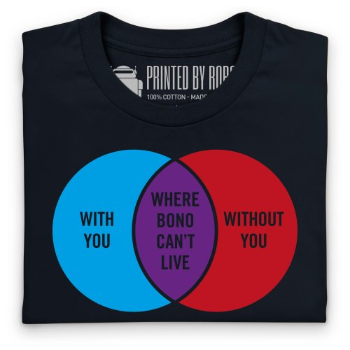 Where Bono Can't Live T-Shirt, Herren Schwarz