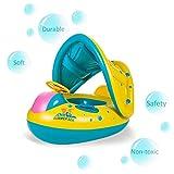 HmiL-U Schwimmsitz PVC Baby-Floß Schwimmbad Schwimmring Boot aufblasbarer Baby Schwimmsitz für 0-3-jährige,Europäisches Lager (Gelb)