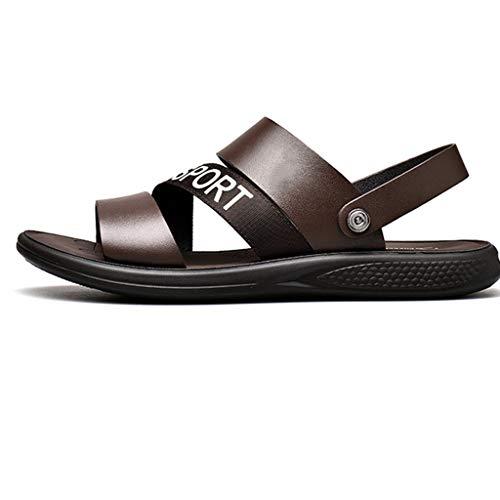 Liucuifang sandali casual da uomo in pelle sandali morbidi con fondo sandali e pantofole da guida antiscivolo summer piatti semplici e traspiranti leggeri casual (colore:) (taglia :)