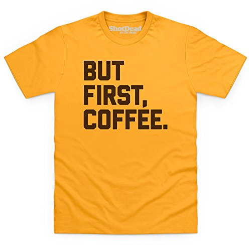 But First Coffee T-Shirt, Herren Gelb