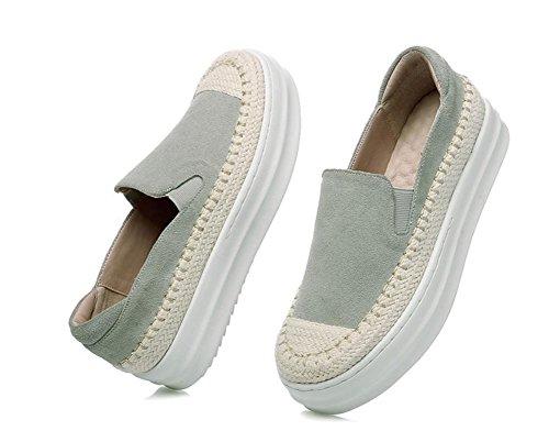 Mme Spring a augmenté chaussures de femmes chaussures d'ascenseur chaussures de paille muffins chaussures de plate-forme Grey