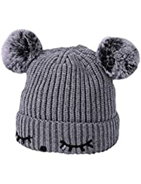 sombrero de punto BBsmile Sombrero de patrón de parpadeo Niña niño bebe Infantil Invierno cálido Sombrero