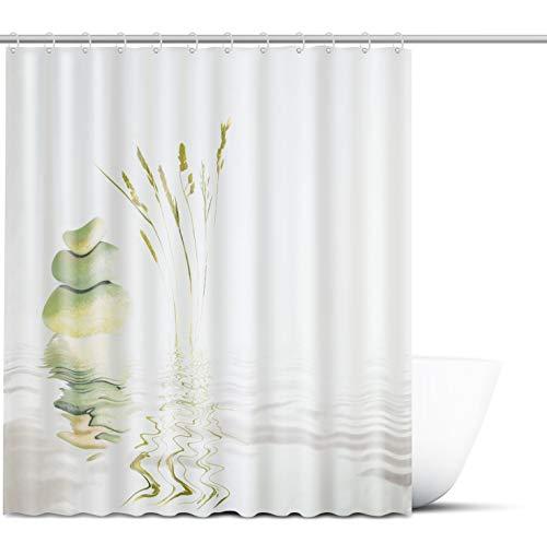 FIT&DRY Duschvorhang 180x200 cm - Antischimmel & wasserabweisender Badezimmer Vorhang - Shower Curtain in einzigartigem Design für Ihre Badewanne - Inkl. 12x Befestigungsringe