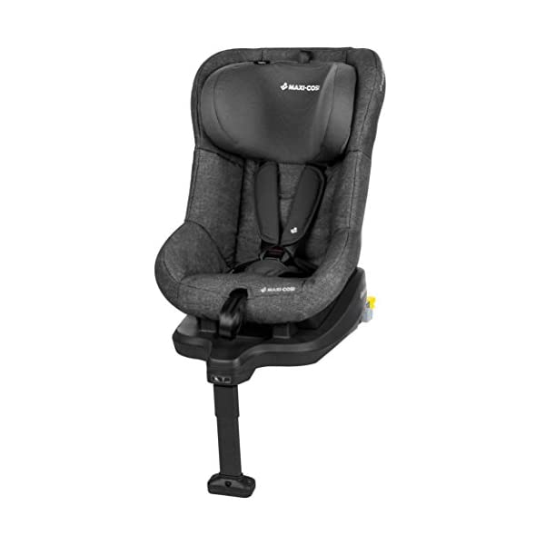 Maxi-Cosi TobiFix Toddler Car Seat Group 1, Forward-Facing ISOFIX Car Seat, 9 Months-4 Years, 9-18 kg, Nomad Black Maxi-Cosi Install using is fix connection point with support leg Simultaneous harness & headrest adjustment can be operated with one-hand 3 position recline 2
