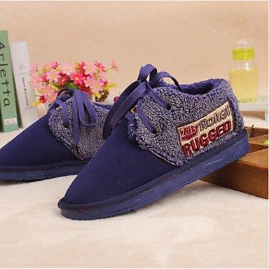 Les bottes pour le confort d'hiver occasionnels PU violet-Brun Bleu Purple
