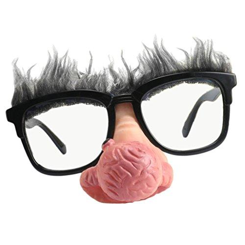 Sharplace Spaß Brille mit Nasen Augenbrauen Lustig Scherzartikel Partybrille
