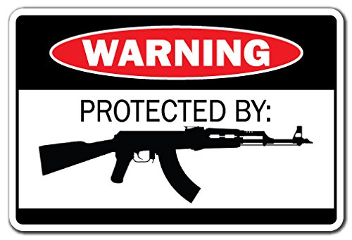 SignMission Advertencia protegido por AK-47regalo WW2munición pistola pistola Revolver Bullet