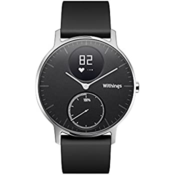 Withings Steel HR Orologio con Funzione Activity Tracking e Monitoraggio della Frequenza Cardiaca, 36 mm, Nero