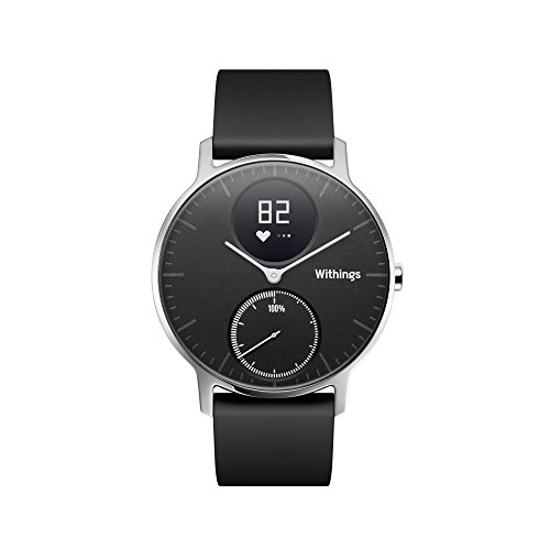 Withings Unisex's Steel HR Activity Tracking Watch with Heart Rate Monitoring, Black, 36 mm