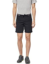 BEEVEE Mens Black Coloured Cotton Shorts, Cotton Stretch Fabric,soft Cotton Blend,has Four Pockets,a Fixed Waist...