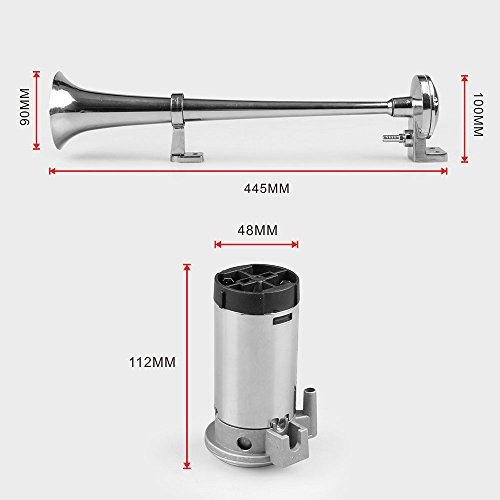 zantec 150dB LKW-Zug Auto Single Trumpet Air Horn 12V/24V Kompressor LKW Wohnmobil-Laut -
