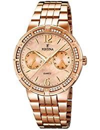 Festina F16702/2 - Reloj de pulsera mujer, acero inoxidable chapado