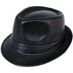 Sombreros de forma sencilla/Sombreros de cuero/Sombreros de piel de invierno/El anciano caballero del sombrero-A