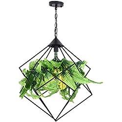 HJHY® Lustre américain Repas bar Café Lustre végétal Restaurant lumières Cafe E27 Facile à nettoyer (taille : 50 * 60cm)