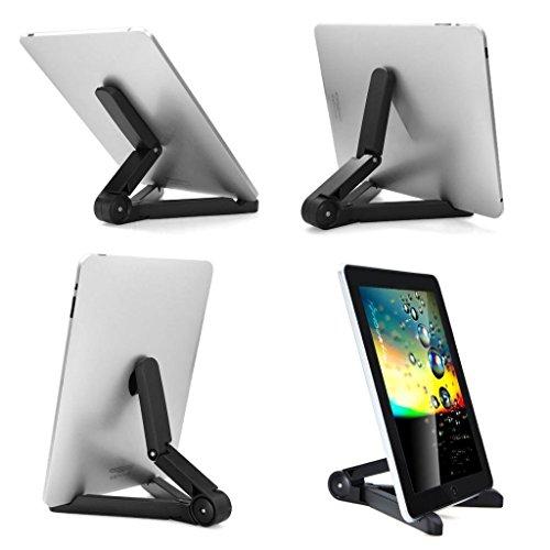 Evana Unique Portable Foldable Adjustable Case Stand Bracket Holder Mount for Apple iPad Tablet PC Black