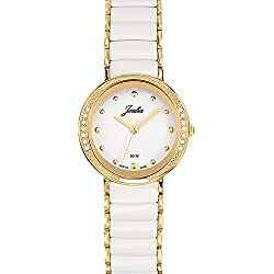 Joalia Women's Analogue Watch with White Dial Analogue Display and Stainless steel plated Bicolour - 631146