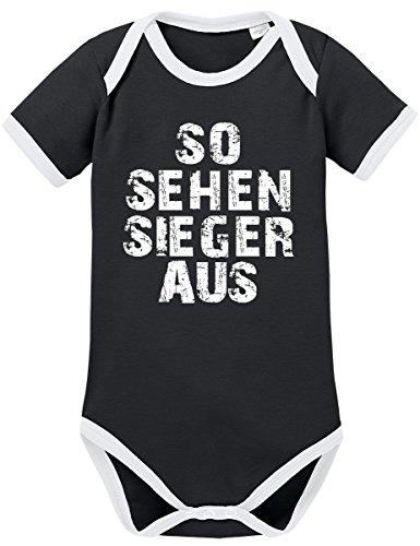 TShirt-People TSP So sehen Sieger aus Kontrast Baby Body 50 56 Schwarz