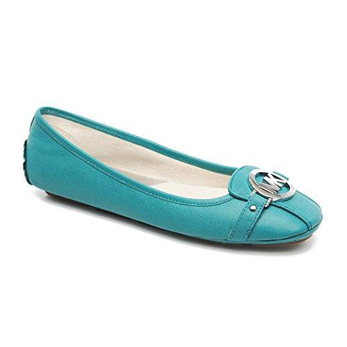 Michael Michael Kors Fulton Moc Cuir Chaussure Plate Aqua