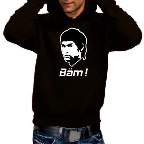 BÄM - BRUCE LEE ! Hoodie Sweatshirt schwarz Gr.XL
