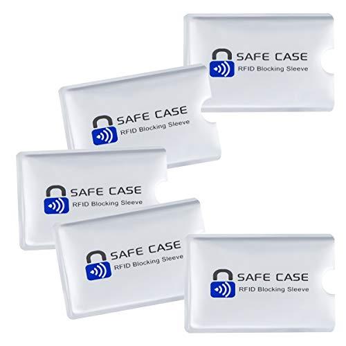 Diawell RFID NFC Kartenschutzhüllen Schutzhülle Blocker Datenschutz Abschirmung Hülle Sleeve EC Karte Kreditkarte Personalausweis Kreditkarte für Geldbeutel (5X)