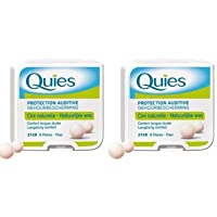 QUIES - protection auditive cire naturelle - Lot de 2 boites de 8 paires